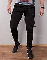 Спортивные штаны зауженные на липучках