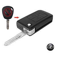 Корпус выкидного ключа ВАЗ Лада Приора/Калина/2115 (3 Кнопки+Логотип-Тип2)