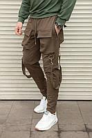 Дизайнерские спортивные штаны, коричневые