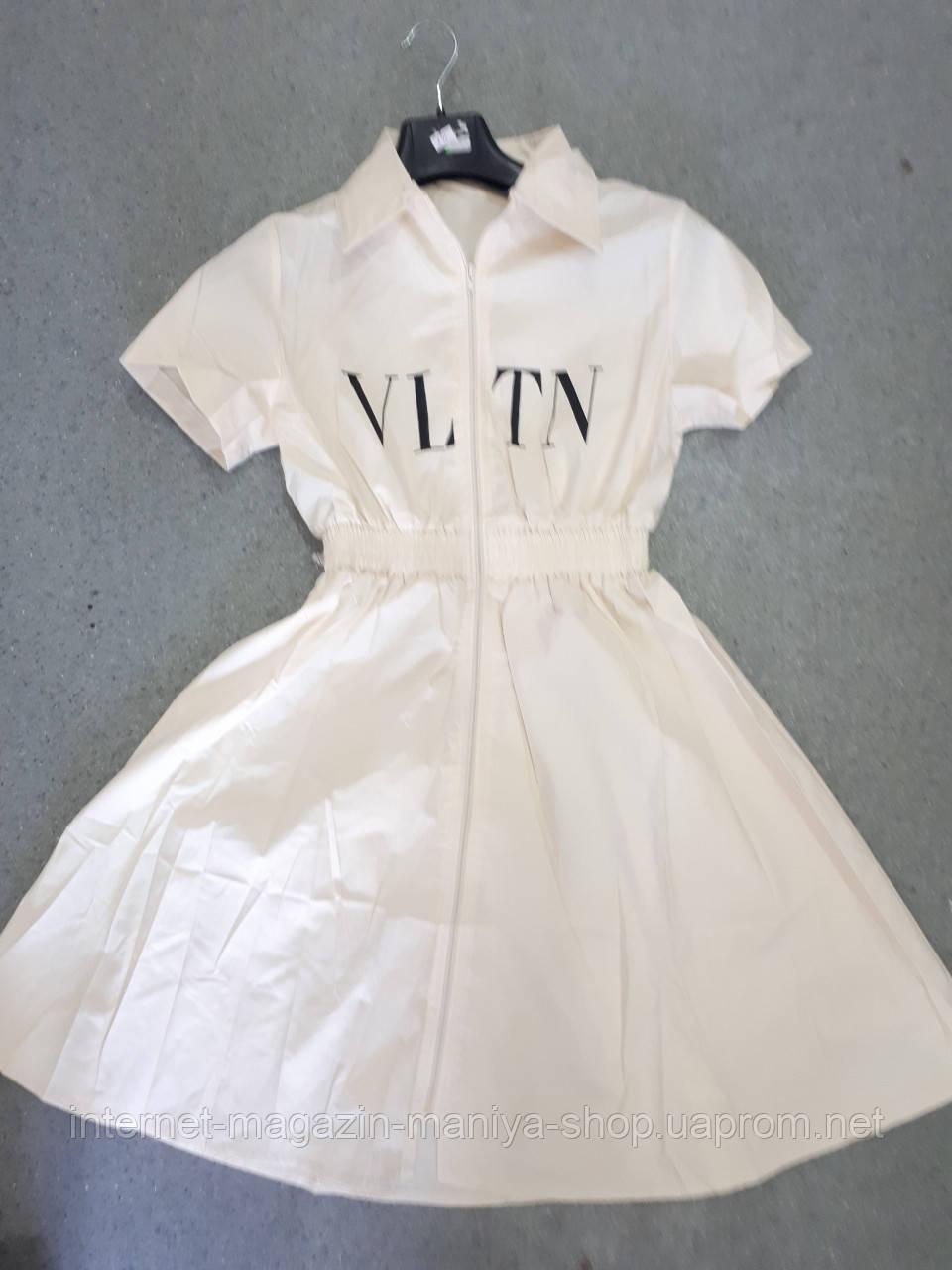 Платье женское текст резинка универсал 42-46 (лето)