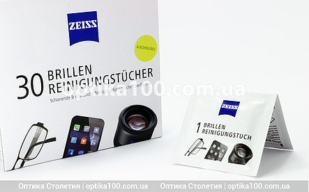 Влажная салфетка для очков и оптики ZEISS, фото 2