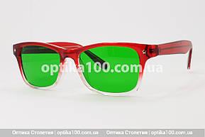 Очки при глаукоме (зеленые стеклянные линзы), фото 2