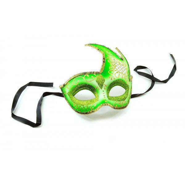 Маска маскарадна зелена