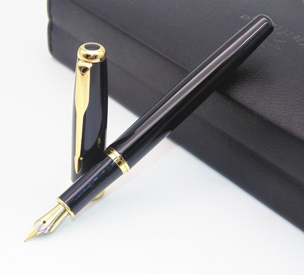 Ручка з відкритим пером чорнильна в чорному корпусі