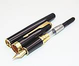 Ручка з відкритим пером чорнильна в чорному корпусі, фото 2