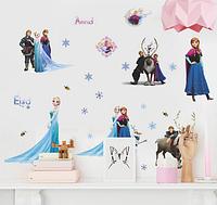 Декоративные наклейки на стену в детскую Холодное сердце Фроузен