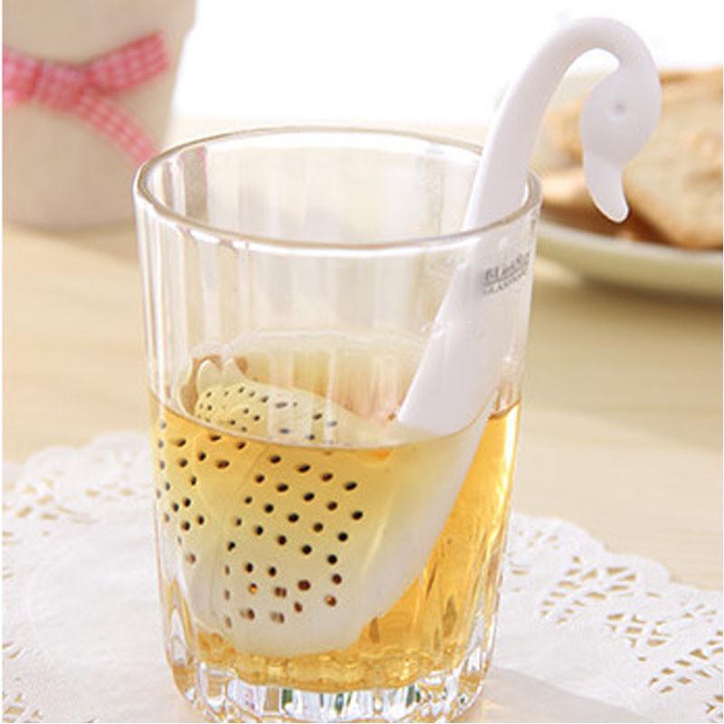 Чайне ситечко для заварювання чаю Білий лебідь