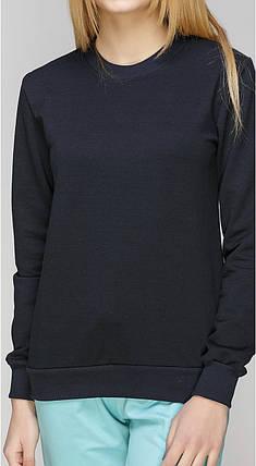 Світшот жіночий під набивку темно синій, фото 2