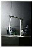 Однозахватный кухонный смеситель Blue Water Польша Art Platino Emira White / Chrom, фото 3