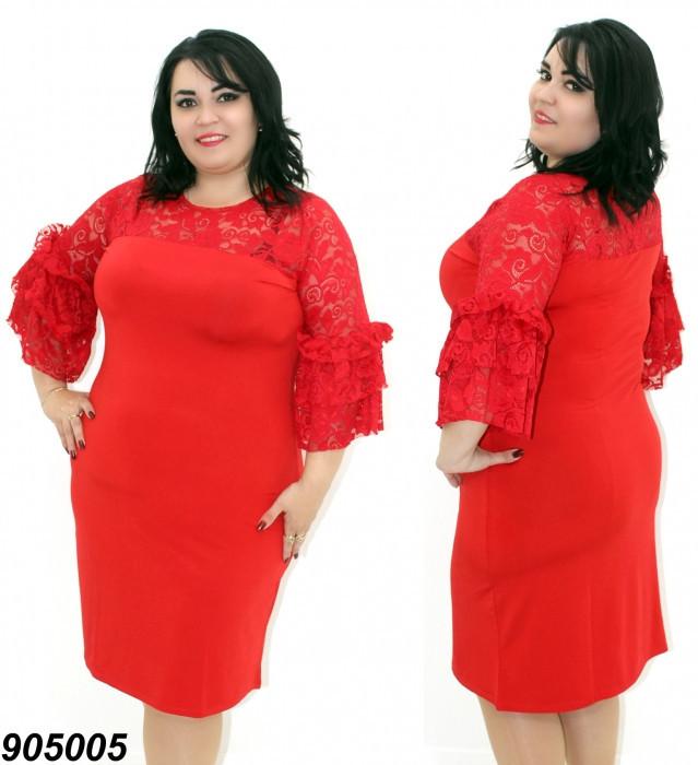 Платье нарядное большого размера с гипюром 50,52,54,56