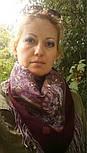 Жемчужный берег 853-57, павлопосадский платок шерстяной  с шелковой бахромой, фото 8