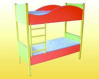 """Кровать детская 2-ярусная с лестницей """"Лайм"""""""