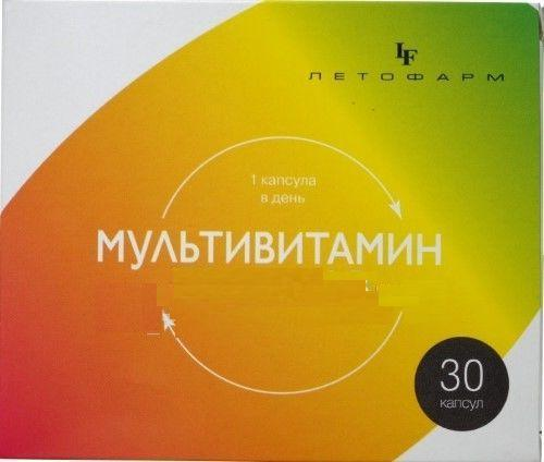 Мультивитамины группы В, 400 мг, 30 капсул, ЛетоФарм