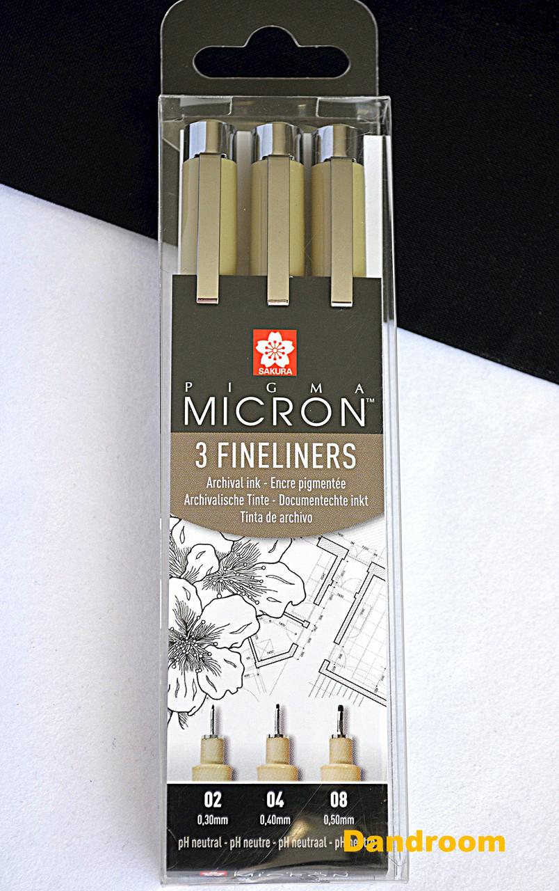 Набор линеров PIGMA Micron 3шт., Sakura