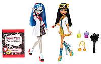 Набор Monster High Безумная Наука Клео де Нил и Гулия Йелпс Mad Science Cleo De Nile & Ghoulia Yelps