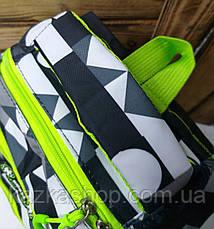 Спортивный прочный рюкзак в стиле Adidas (реплика) из непромокаемого уплотненного материала, на 3 отдела, фото 2