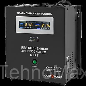 ИБП с правильной синусоидой LogicPower LPY-С-PSW-2000VA (1400W) MPPT 24V для котлов и аварийного освещения