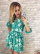 Женское платье с рюшами из турецкого креп-шифона