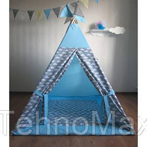 Вигвам Комплект Облака синий с серым, детская игровая палатка