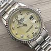 Часы Rolex Oyster Perpetual DateJust 116187 женские 37 мм серебристые с золотым календарь линза копия