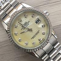 Часы Rolex Oyster Perpetual DateJust 116187 женские 37 мм серебристые с золотым календарь линза копия, фото 1