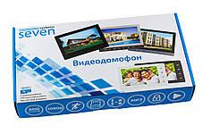 """Экран 7""""дюймов """"Комплект Видеодомофон - SEVEN DP–7574 + SEVEN CP-7506 """" + Подарок Флешка!, фото 2"""