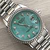 Часы Rolex Oyster Perpetual DateJust 116188 женские 37 мм серебристые с зеленым календарь линза копия