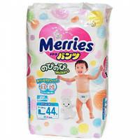 Трусики японские Merries (Мерриес) L(9-14кг)44шт. Памперсы.