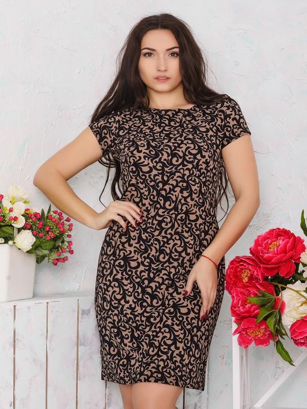 Платье с модным узором