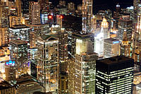 Глянцевые фотообои Современный  город разные текстуры , фото 1