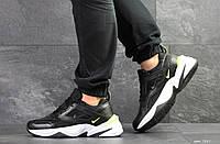 Черные, мужские кроссовки Nike M2K Tekno (реплика), артикул 7587 черно белые, фото 1