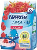 Молочная каша Nestle рисовая с малиной, 230 г, нестле