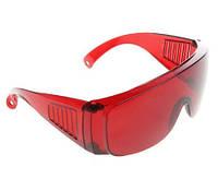 Очки лабораторные для защиты глаз красные