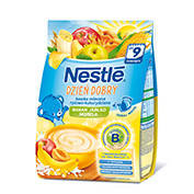 Молочная каша Nestle рис, кукуруза с яблоком, бананом, абрикосом и бифидобактериями, 230 г, нестле