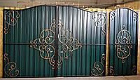 """Кованые ворота """" Гармония арочная """""""