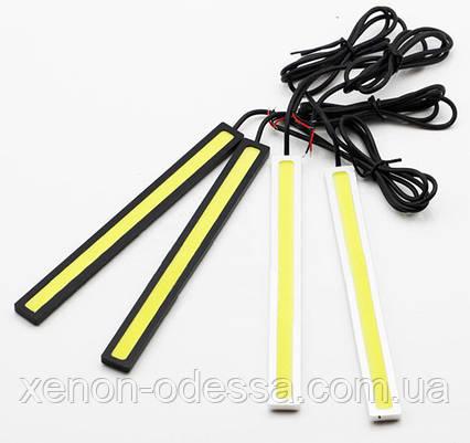 LED COB DRL 14 см Желтые (сплошные линейки), фото 2