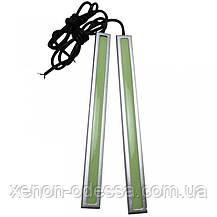 LED COB DRL 14 см Зеленые (сплошные линейки), фото 3