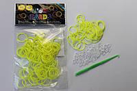 100 штук ярко жёлтых  резиночек для плетения Loom Bands