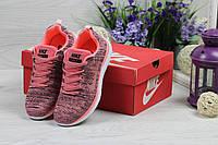Женские кроссовки в стиле Nike Free Run 40 , розовые 36 (23,3 см)
