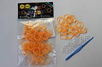 100 штук оранжевых  резиночек
