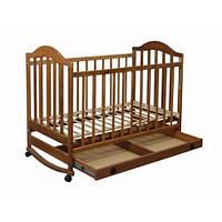 Кроватка Laska Наполеон с ящиком натуральная ольха