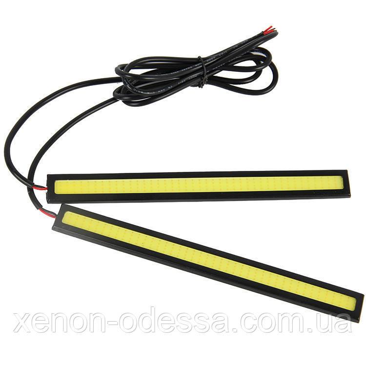 LED COB DRL 17 см Красные (сплошные линейки)