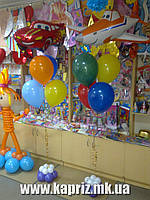 Букет - композиция из шаров, наполненных гелием, Тачки (Летачки)