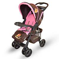 Детская прогулочная коляска книжка  Sigma S-K-6F Brown Розовый