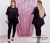 Костюм 1364 (блуза+лосины) R-23701 черный