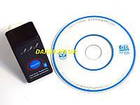 Автомобильный адаптер ELM 327 Bluetooth mini 2,1 диагностический OBD2 сканер, фото 1