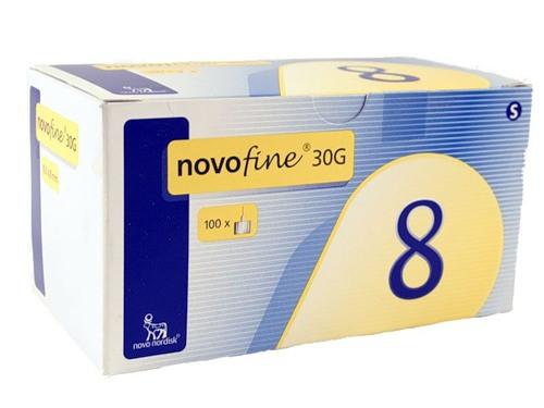 Иглы к шприц ручкам универсальные Novo Fine 30G НовоФайн 0.3*8 мм