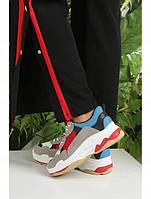 Кроссовки женские в ярких цветах на толстой подошве