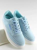 Кроссовки женские голубого цвета