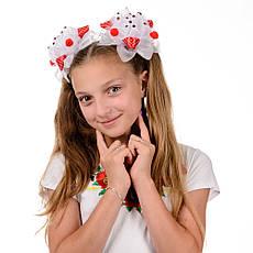 Яркие красно белые банты для девочек